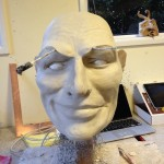Clay sculpt of head